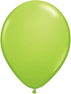 "11"" Lime Green Latex Balloons 100pk"