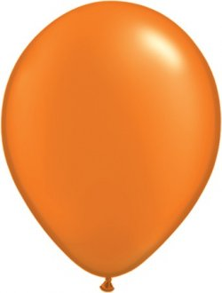 "11"" Pearl Mandarin Orange Latex Balloons 100pk"