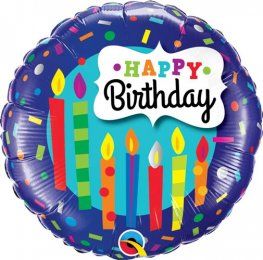 "18"" Birthday Candles & Confetti Foil Balloons"
