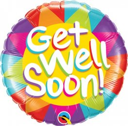 "18"" Get Well Soon Sunshine Foil Balloons"