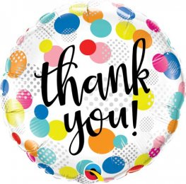 "18"" Thank You Dots Upon Dots Foil Balloons"