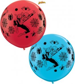 3ft Spiderman A Round Giant Latex Balloons 2pk