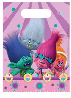 Trolls Party Loot Bags 6pk