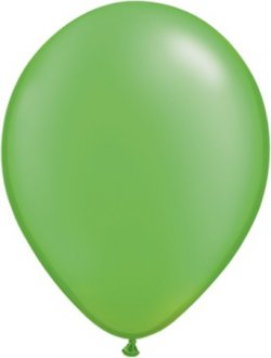 "11"" Pearl Lime Green Latex Balloons 100pk"