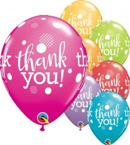 "11"" Thank You Dots Upon Dots Latex Balloons 25pk"