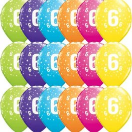 "11"" 6 Stars Tropical Assorted Latex Balloons 25pk"