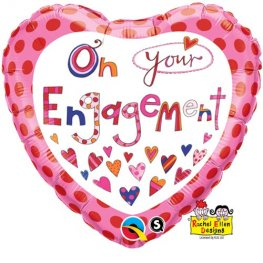 "18"" On Your Engagement Foil Balloons"