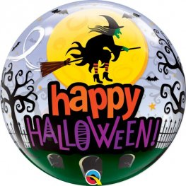 "22"" Halloween Witch Haunting Single Bubble Balloons"