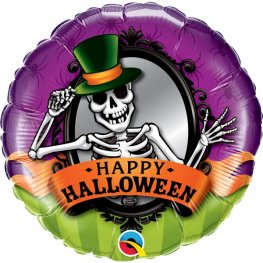 "18"" Halloween Skeleton Mirror Foil Balloons"