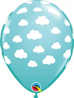 "11"" Fluffy Clouds Latex Balloons 25pk"
