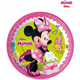 23cm Disney Minnie Mouse Paper Plates 8pk