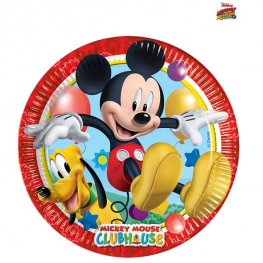 20cm Playful Mickey Paper Plates 8pk