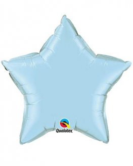 "20"" Pearl Light Blue Star Foil Balloon"