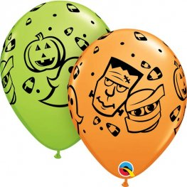 "11"" Halloween Fun Latex Balloons 25pk"