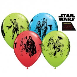 "11"" Star Wars The Last Jedi Latex Balloons 25pk"