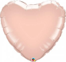 "18"" Rose Gold Heart Foil Balloons"