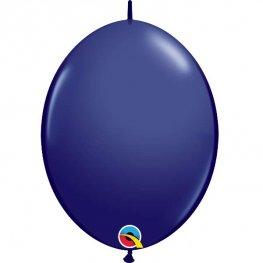 "12"" Navy Quick Link Latex Balloons 50pk"