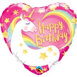 "18"" Birthday Magical Unicorn Foil Balloons"