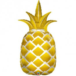 Golden Pineapple Supershape Balloons