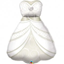 Brides Wedding Dress Supershape Balloons