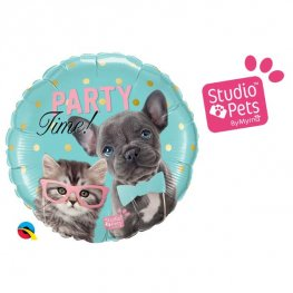 "18"" Party Time Pets Foil Balloons"