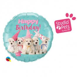 "18"" Birthday Puppies Foil Balloons"