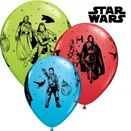 "11"" Star Wars The Last Jedi Latex Balloons 6pk"