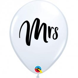 "11"" Mrs White Latex Balloons 25pk"