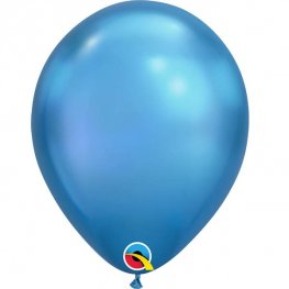 "Pre-Order 11"" Chrome Blue Latex Balloons 100pk"
