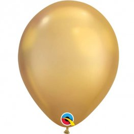 "11"" Chrome Gold Latex Balloons 25pk"