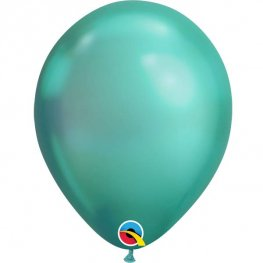 "Pre-Order 11"" Chrome Green Latex Balloons 25pk"