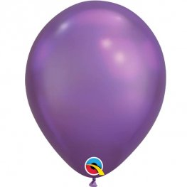 "11"" Chrome Purple Latex Balloons 25pk"