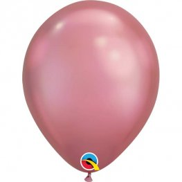 "11"" Chrome Mauve Latex Balloons 25pk"