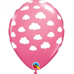 "11"" Rose Fluffy Clouds Latex Balloons 25pk"