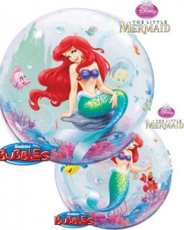 "22"" The Little Mermaid Single Bubble Balloons"