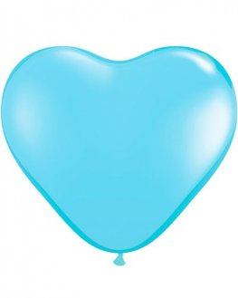 "6"" Pale Blue Heart Latex Balloons 100pk"