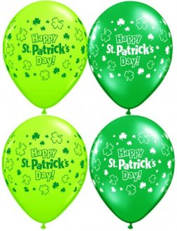 "11"" St Patricks Day Assorted Latex Balloons 25pk"