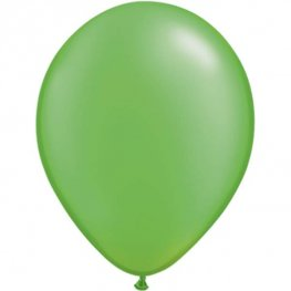 "11"" Pearl Lime Green Latex Balloons 25pk"