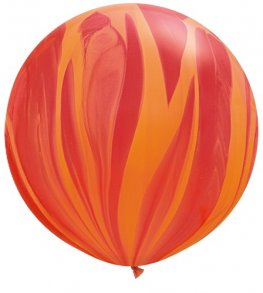 "30"" Red Orange Rainbow Super Agate Balloons 2pk"