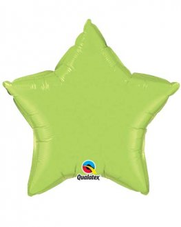 "4"" Lime Green Star Foil Balloon"