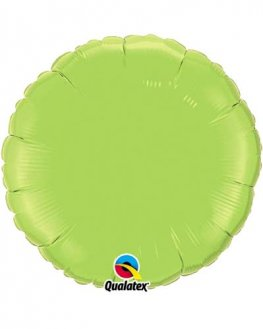 "4"" Lime Green Round Foil Balloon"