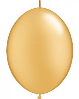 "12"" Gold Quick Link Latex Balloons 50pk"