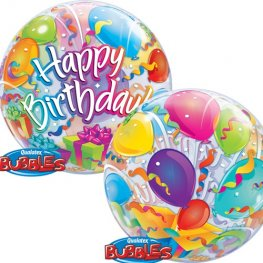 "22"" Birthday Surprise Single Bubble Balloons"