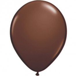 "11"" Chocolate Brown Latex Balloons 25pk"