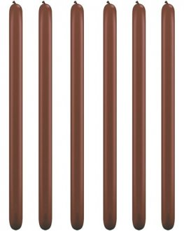 160Q Chocolate Brown Modelling Balloons 100pk