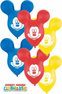"15"" Mickey Mouse Ears Latex Balloons 25pk"