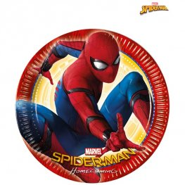 Spiderman Homecoming Large Paper Plates 8pk