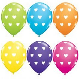"11"" Big Hearts Latex Balloons 50pk"