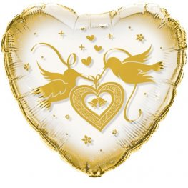 Gold Love Dove Balloons