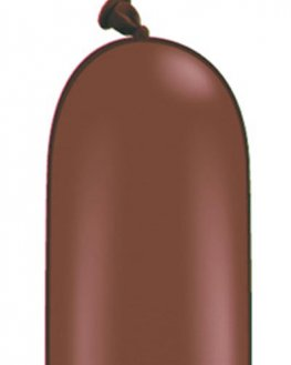 646Q Chocolate Brown Modelling Balloons 50pk